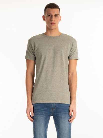 Striped stretch t-shirt