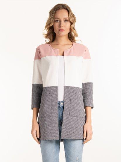 Colour block blazer