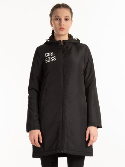 Light padded hooded jacket