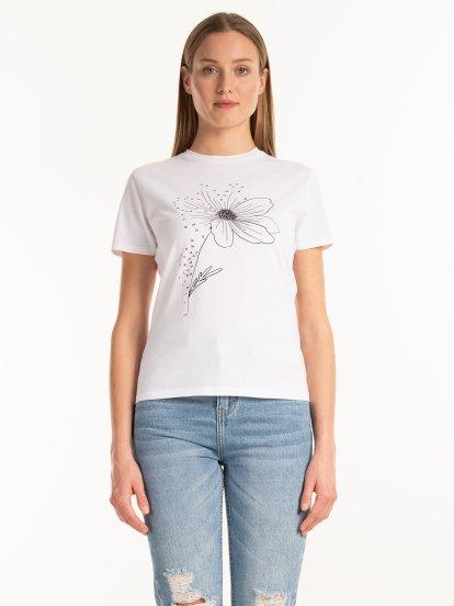 Bavlnené tričko s grafickou potlačou