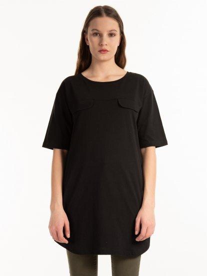 Predĺžené bavlnené tričko