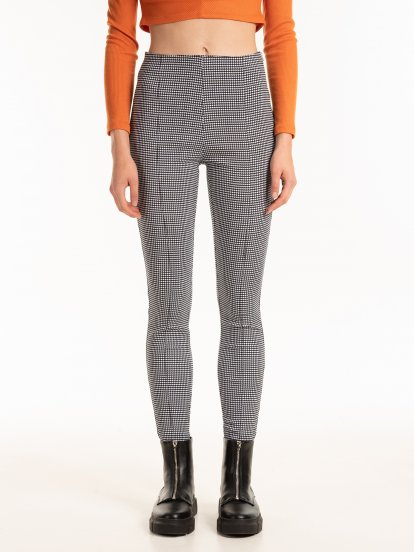 Houndstooth jeggings