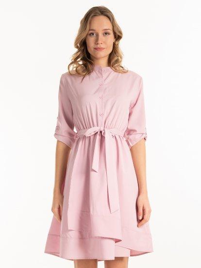 Sukienka koszulowa z paskiem