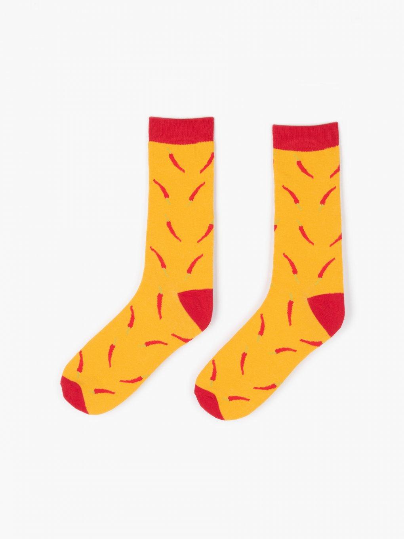 Patterned crew sock