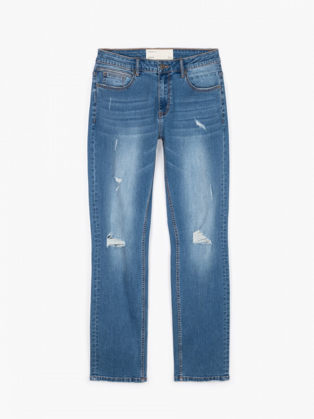 Regular jeans with damages