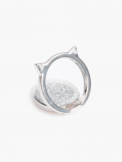 Phone finger holder with glitters