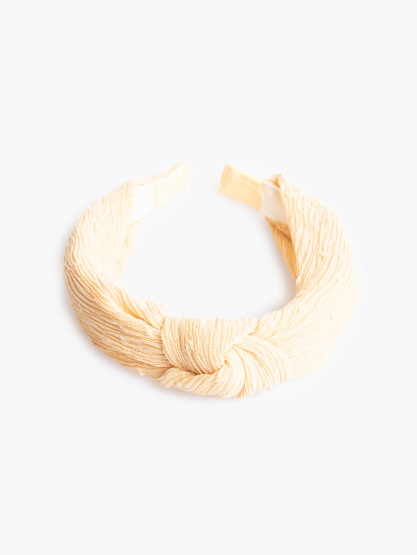 Šifónová čelenka do vlasov s uzlom