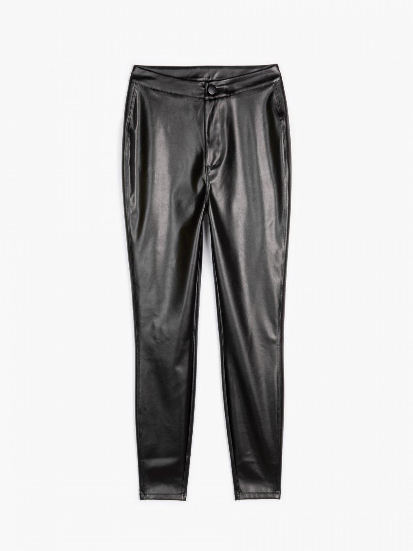 Nohavice skinny z imitácie kože