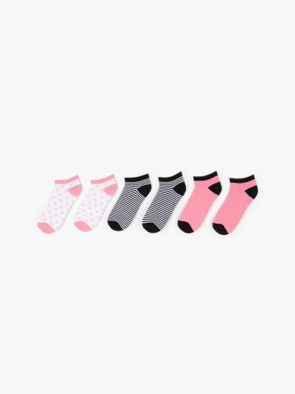 3-pack low-cut socks