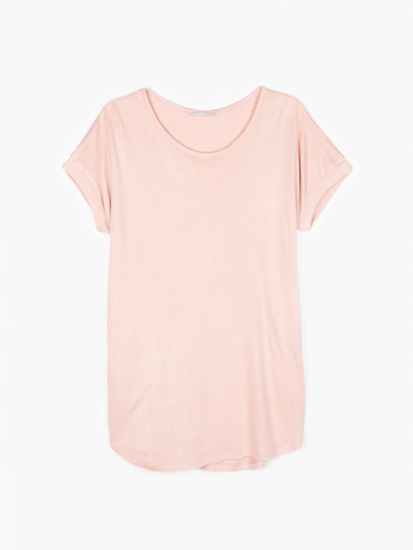 Rozszerzony T-shirt z wiskozy