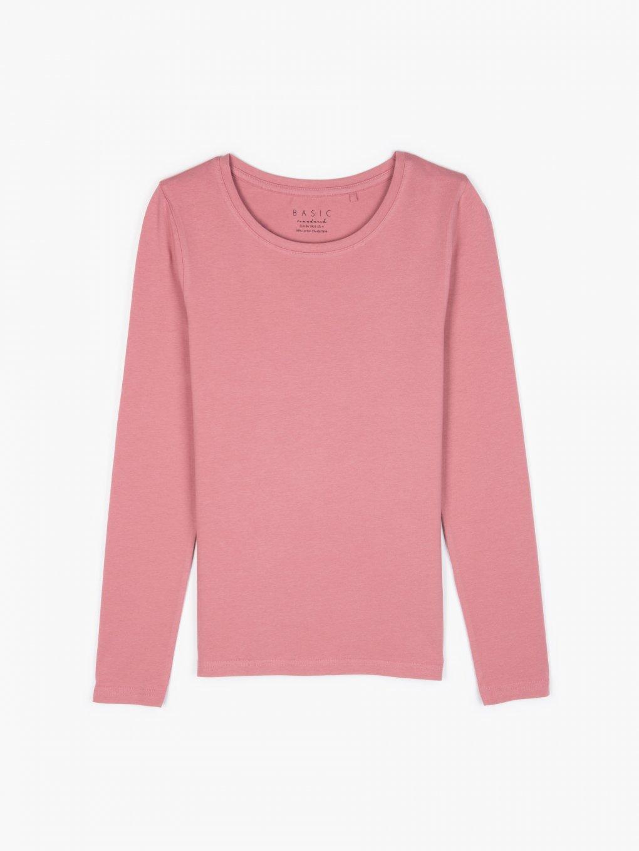 T-shirt basic z elastycznej bawełny
