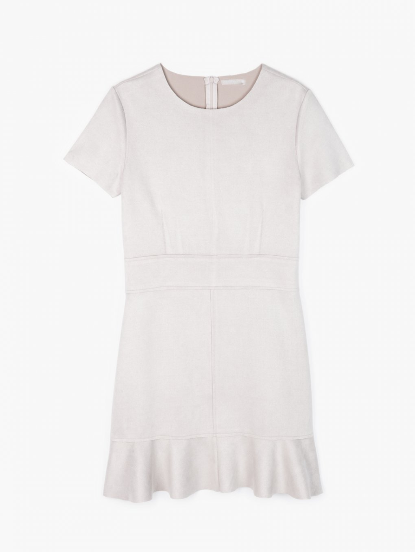 Faux suede dress