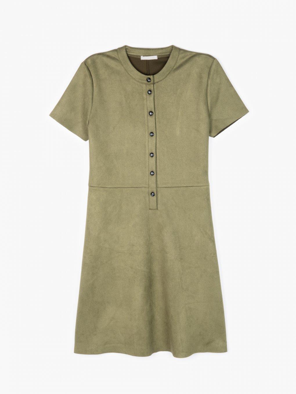 Šaty z imitace semiše