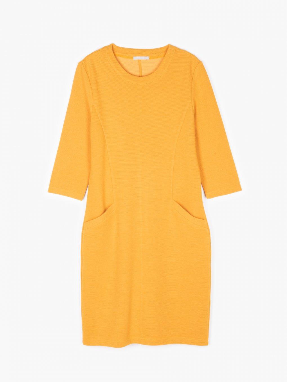 Štruktúrované šaty s vreckami