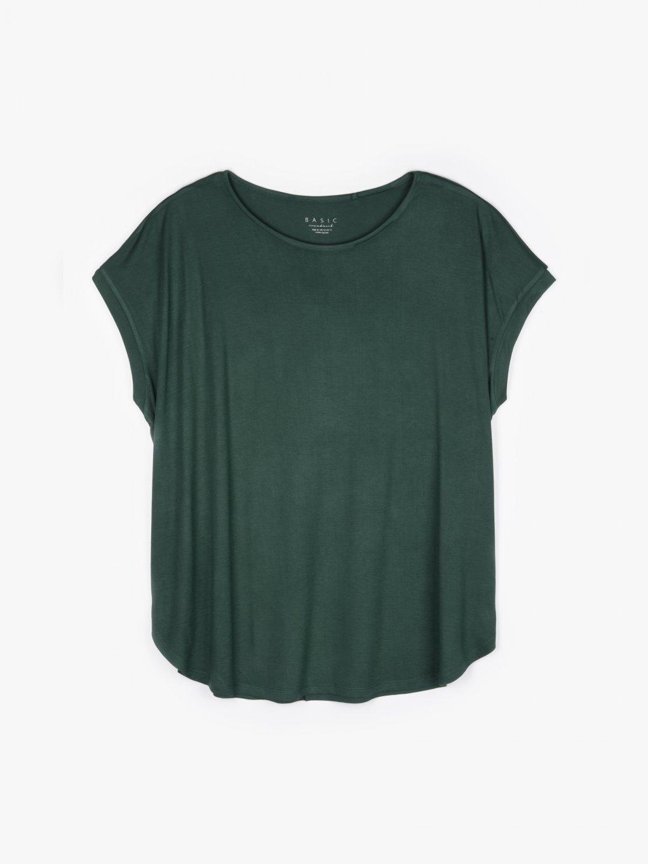 Longline viscose t-shirt