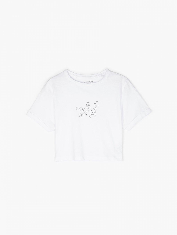 Krótka koszulka wykonana z bawełny organicznej