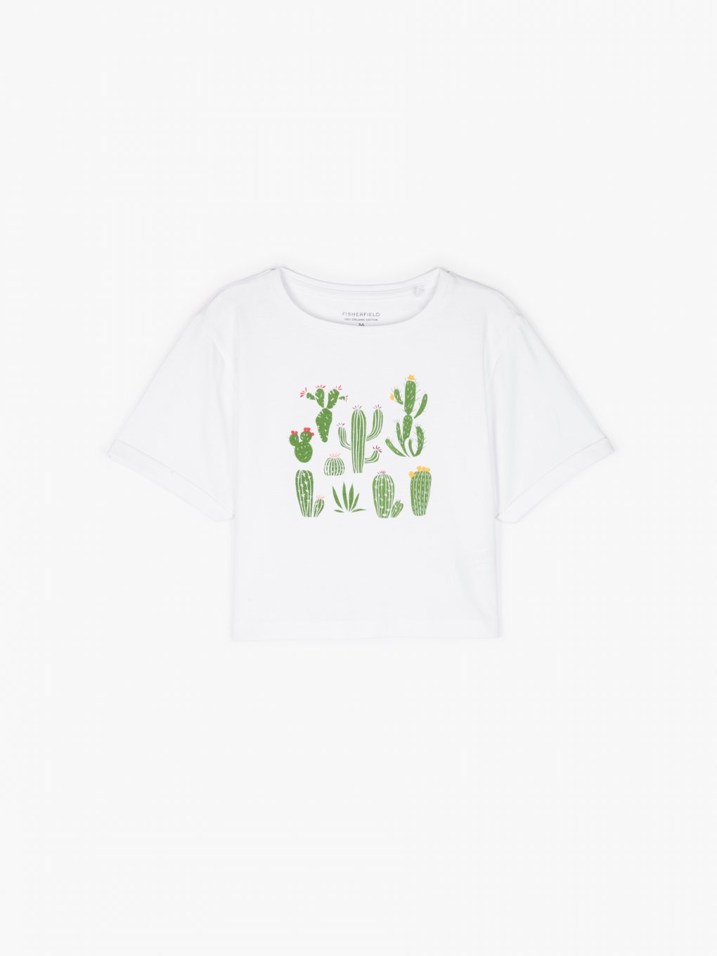 Organic cotton crop top with print