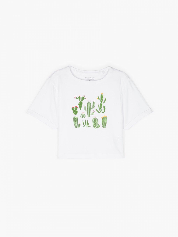 Krátké tričko z organické bavlny s potiskem