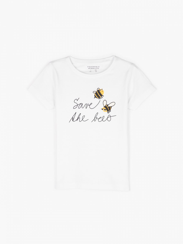 Organic Cotton t-shirt with slogan print