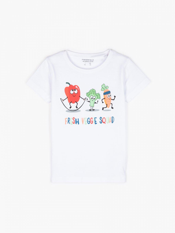 Tričko z organické bavlny s grafickým potiskem