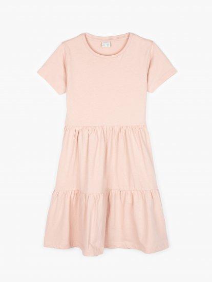Organic cotton ruffle dress