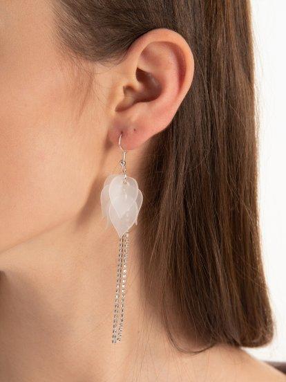 Long faux stone earrings