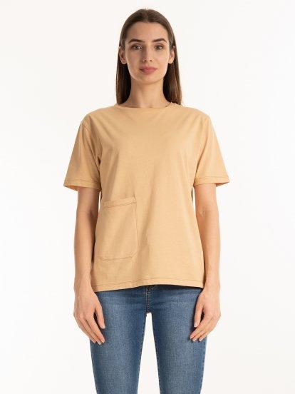 Tričko z organické bavlny s kapsou