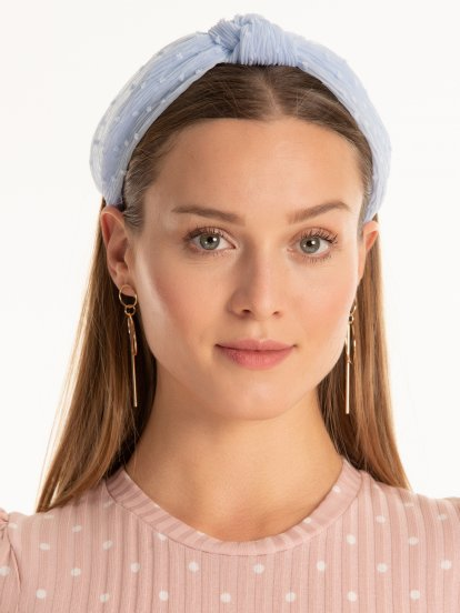 Chiffon headdress with front knot