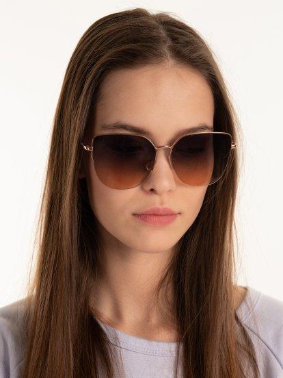 Gradient lenses cat eye sunglasses