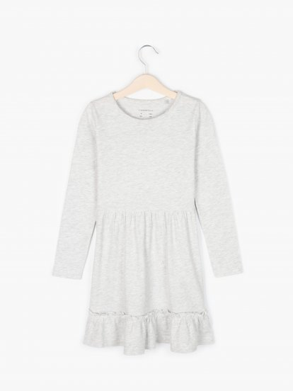 Jersey dress with ruffle