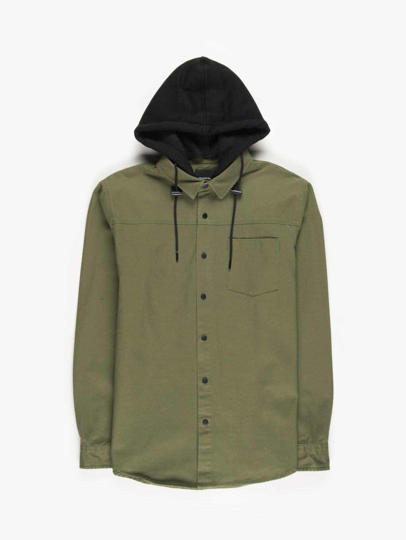 Overshirt with hood