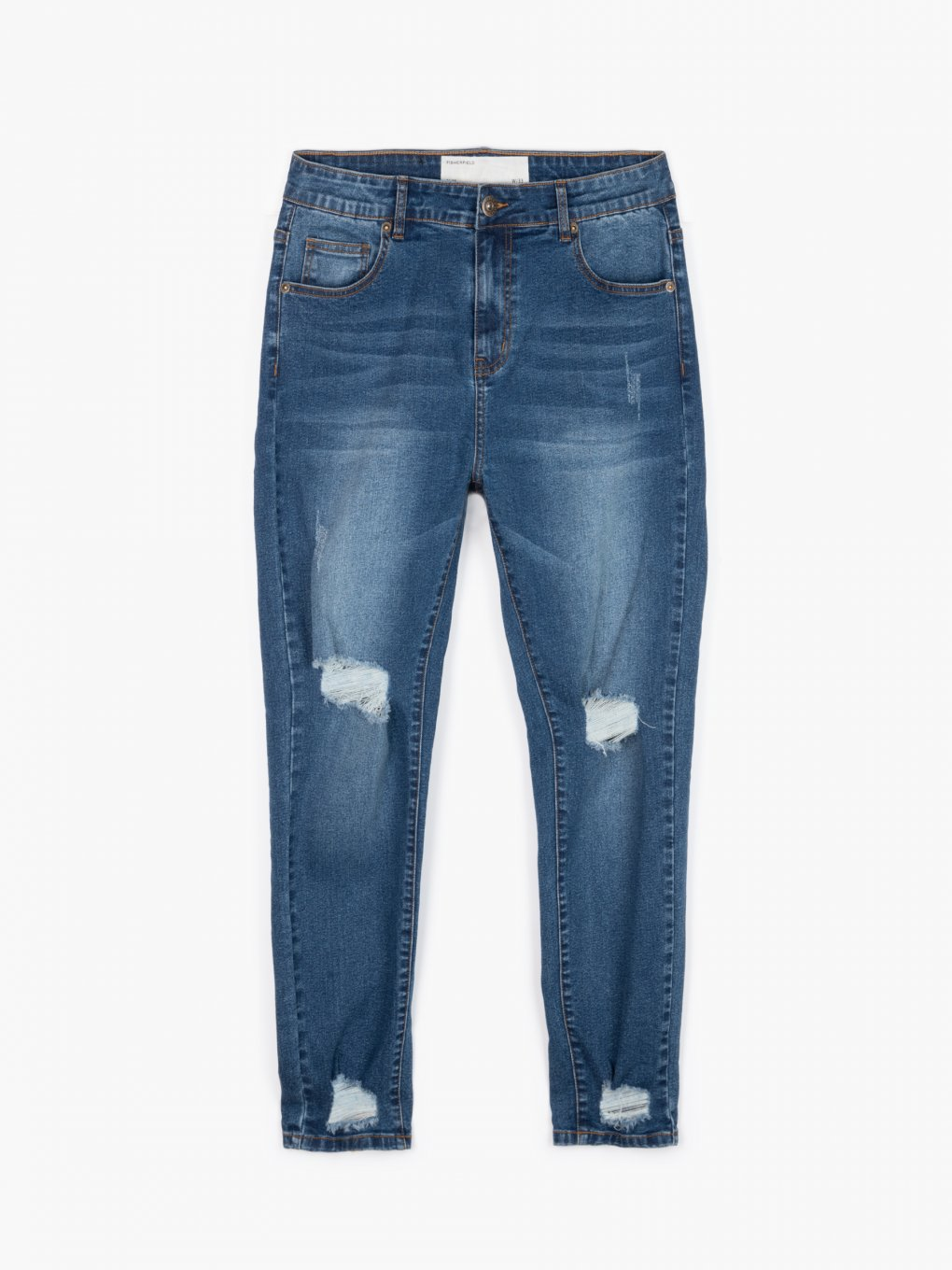 Slim fit jeans with damages