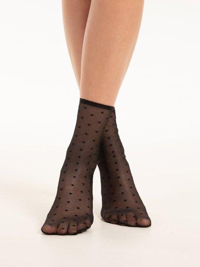 Patterned nylon socks