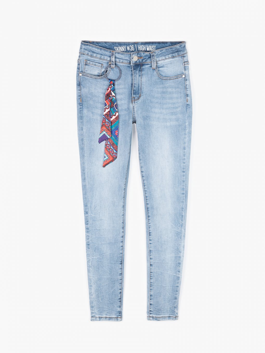 Skinny jeans with a decoration