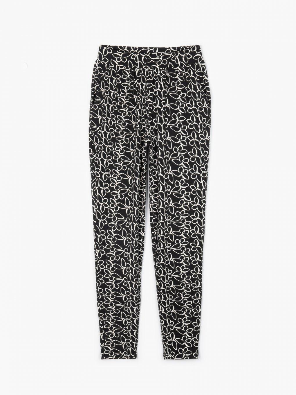 Elastické kalhoty s potiskem