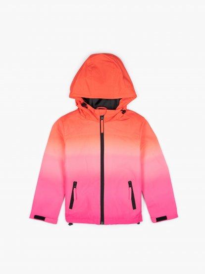 Dip dye print jacket