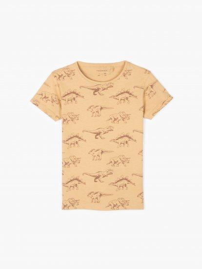 Dino print cotton t-shirt