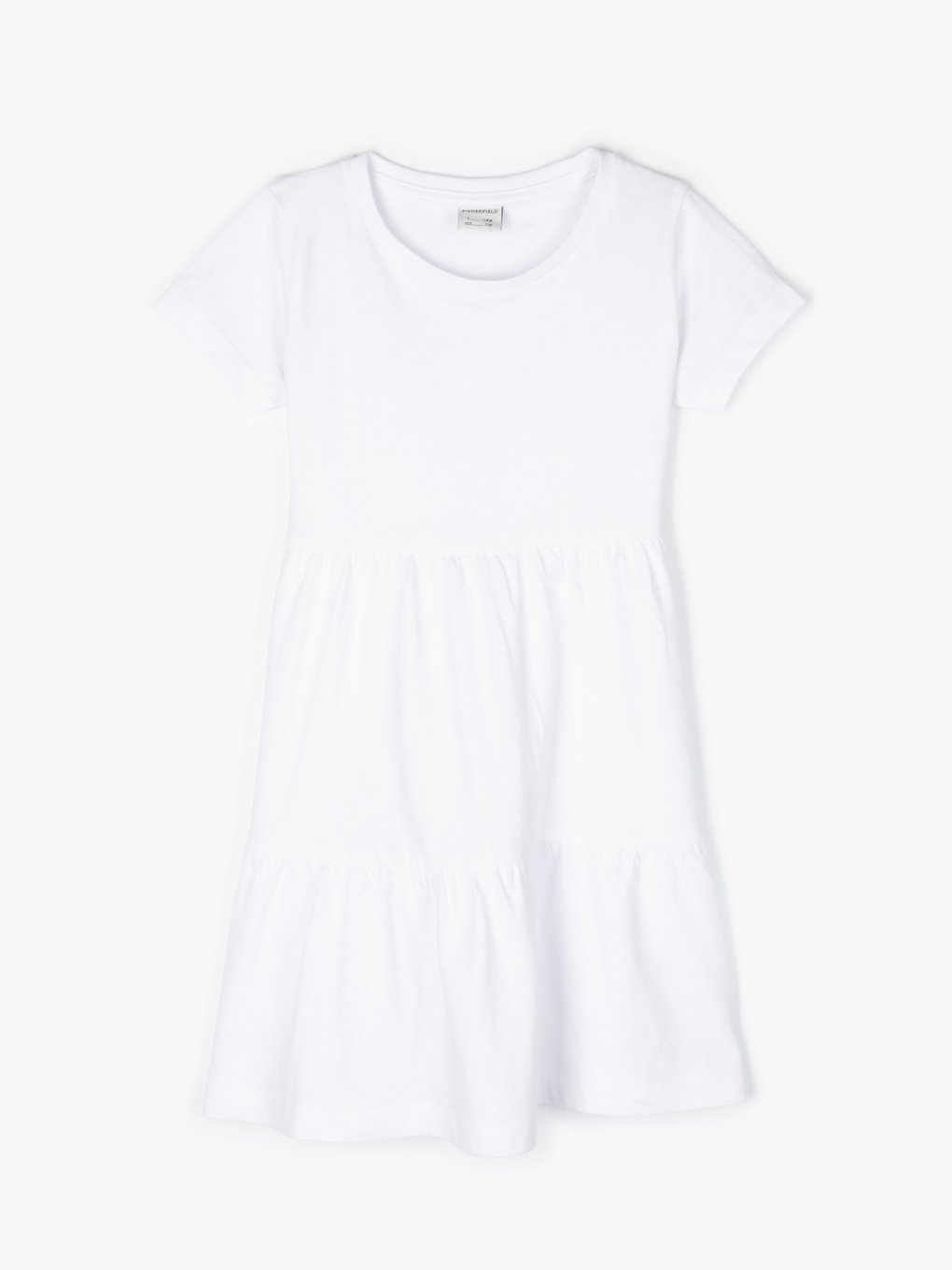 Organic cotton ruffle dress