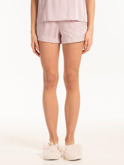 Satin pyjama shorts