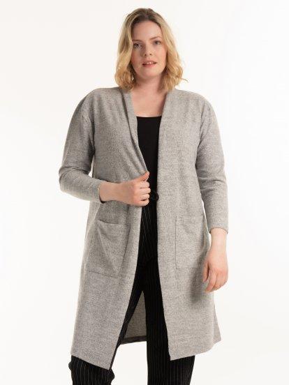 Long marled blazer