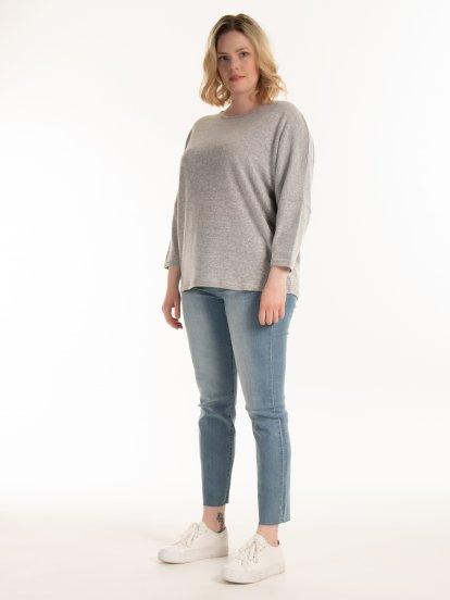 Fine knit marled jumper