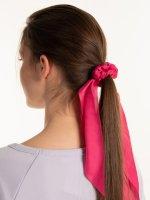 Satynowa opaska do włosów z szalikiem