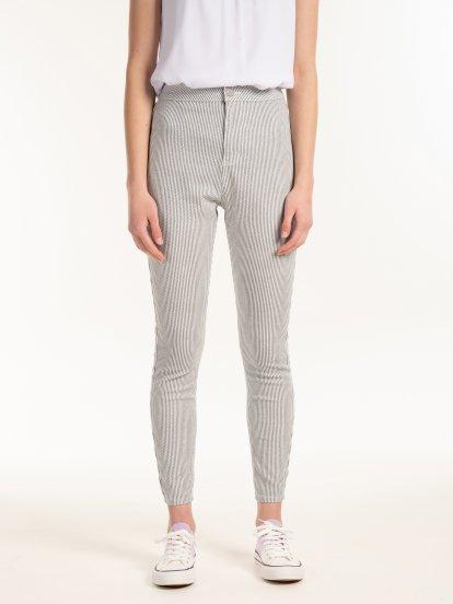 Spodnie skinny w paski
