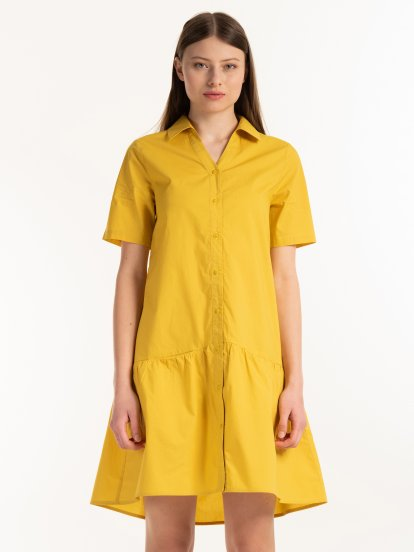 Shirt dress with pocket