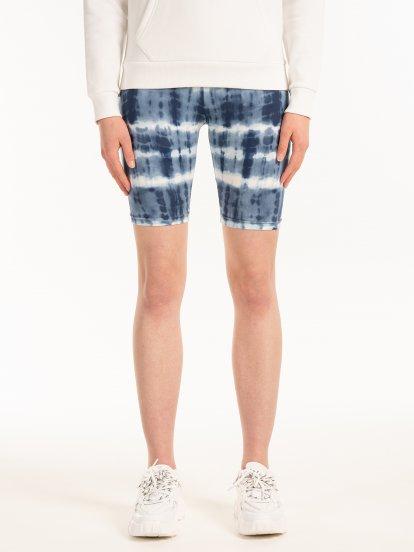 Tie dye cycling shorts