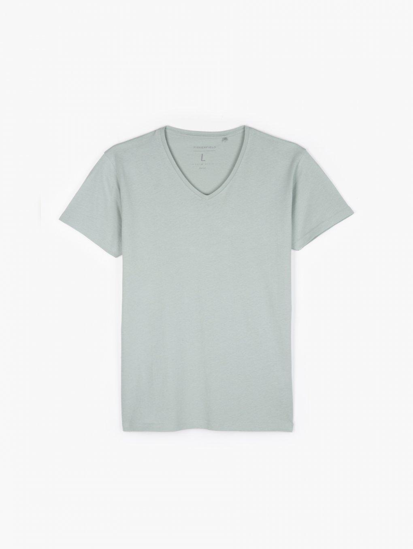 Koszulka basic slim fit z kołnierzykiem