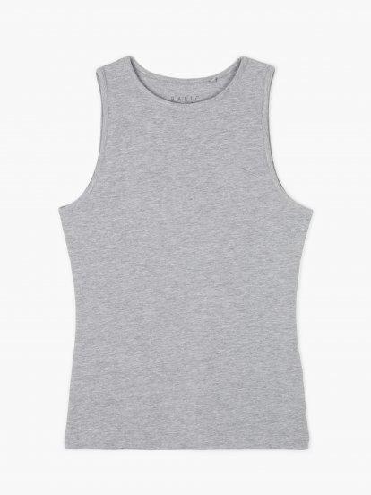 Basic stretch jersey tank