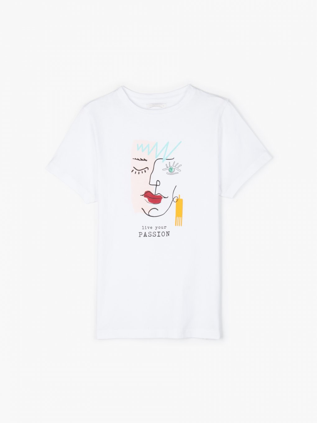 Cotton t-shirt with graphic print