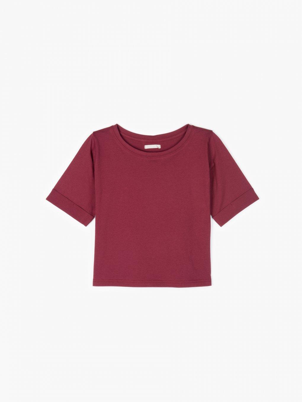 Základný bavlnený krátky top