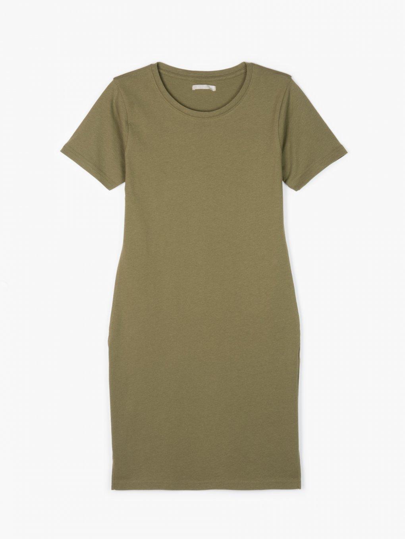 Długa bawełniana koszulka basic